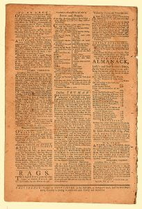 Example of the Providence Gazette