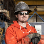 Worker with DustCount Breathing Tube