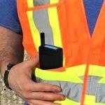Worker with Nanozen Dustcount 8899