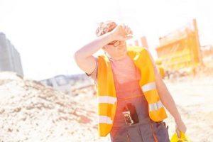 Worker in Hot Sun